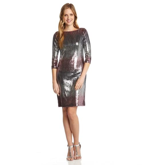 Versailles Sequin Dress-Multi Color-XS