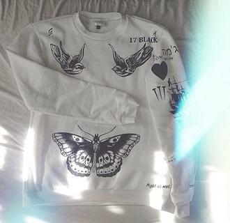 sweater grey harry styles harry tattoo fangirl sweatshirt