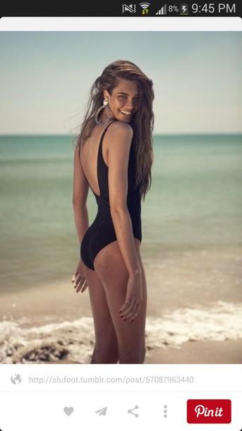 swimwear black swimwear backless