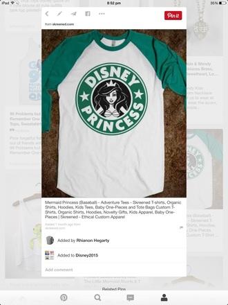 t-shirt baseball tee the little mermaid disney