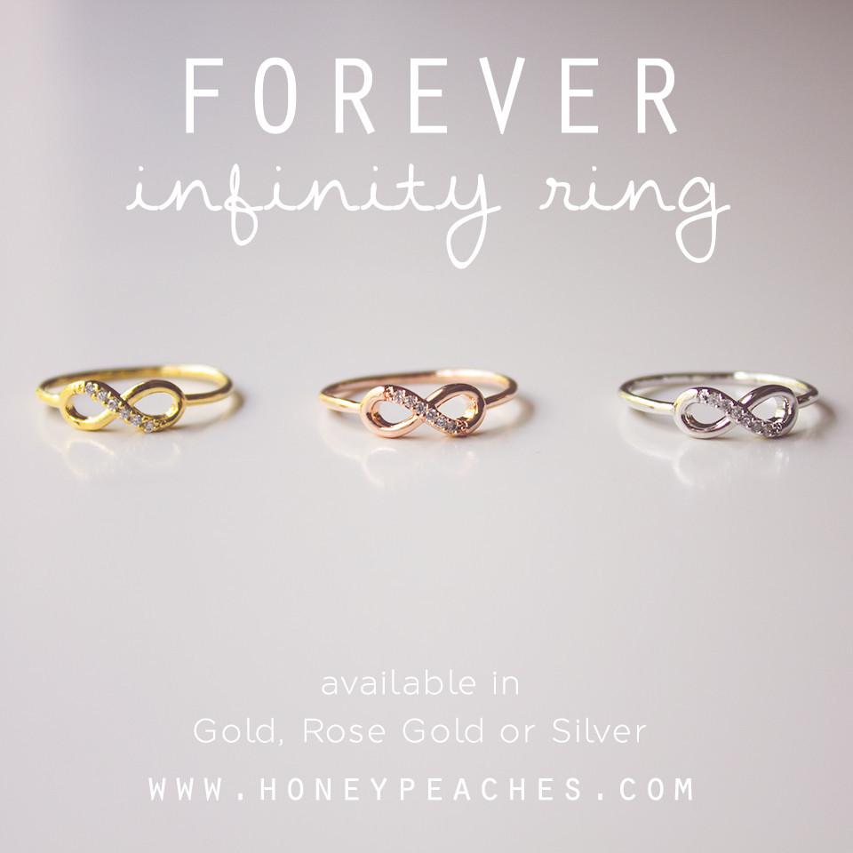 Forever Infinity Ring – Honey Peaches