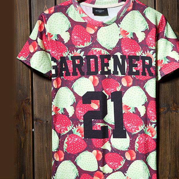 t-shirt band t-shirt shirt strawberry fashion vintage girly 3d