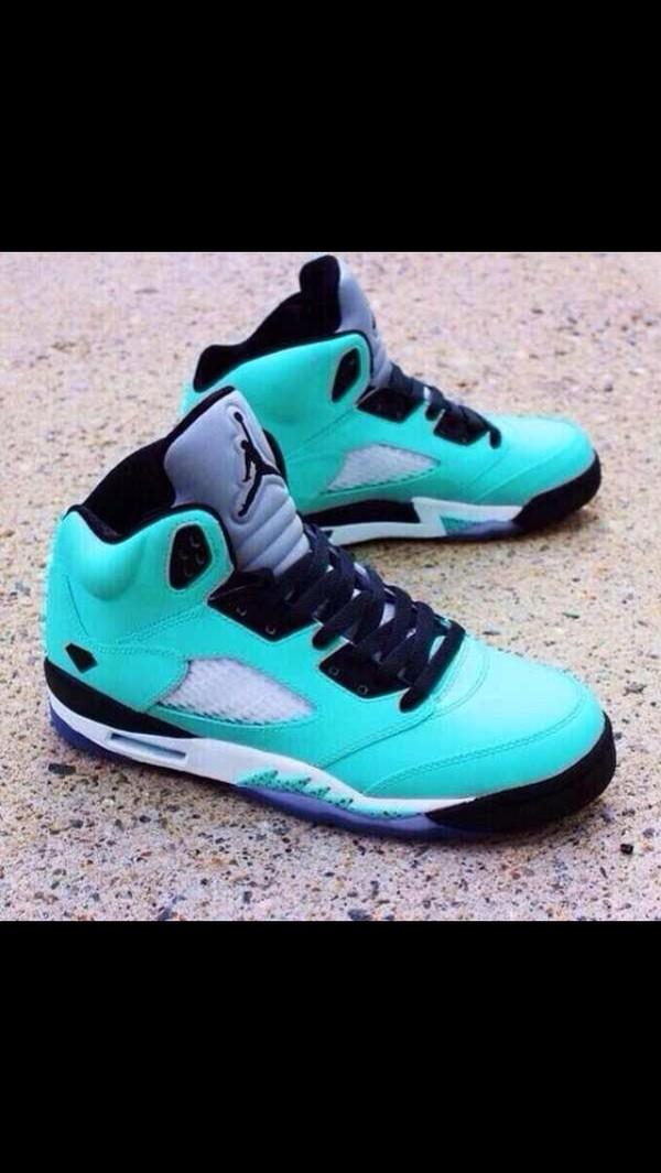shoes jordans 5s turquoise sneakers jordans