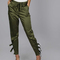 Satin jogger pants with buckle olive -shein(sheinside)