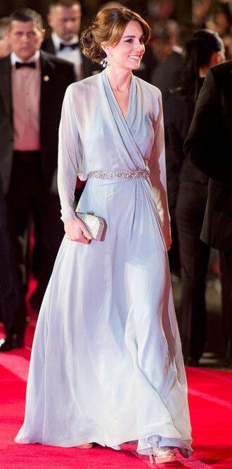dress prom dress gown kate middleton clutch bag