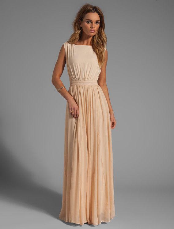 Alice Olivia 'Triss' Leather Trim Maxi Dress 4 $595 | eBay