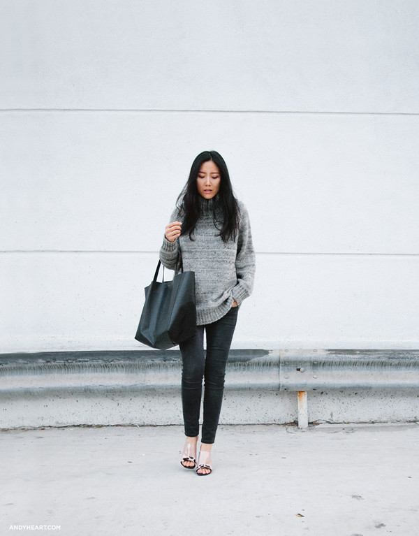 andy heart sweater jeans shoes bag