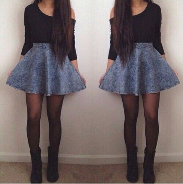 sweater skirt shoes underwear