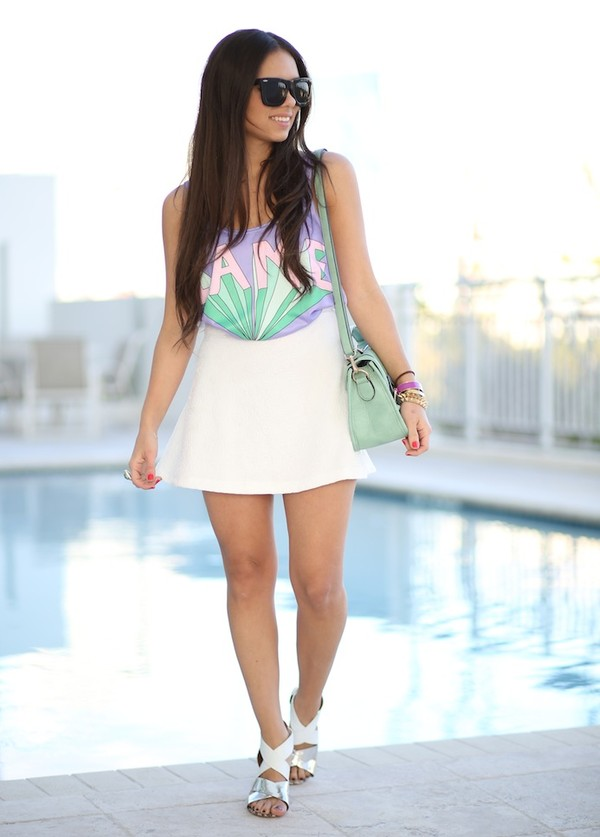 nany's klozet t-shirt shirt skirt shoes bag sunglasses jewels