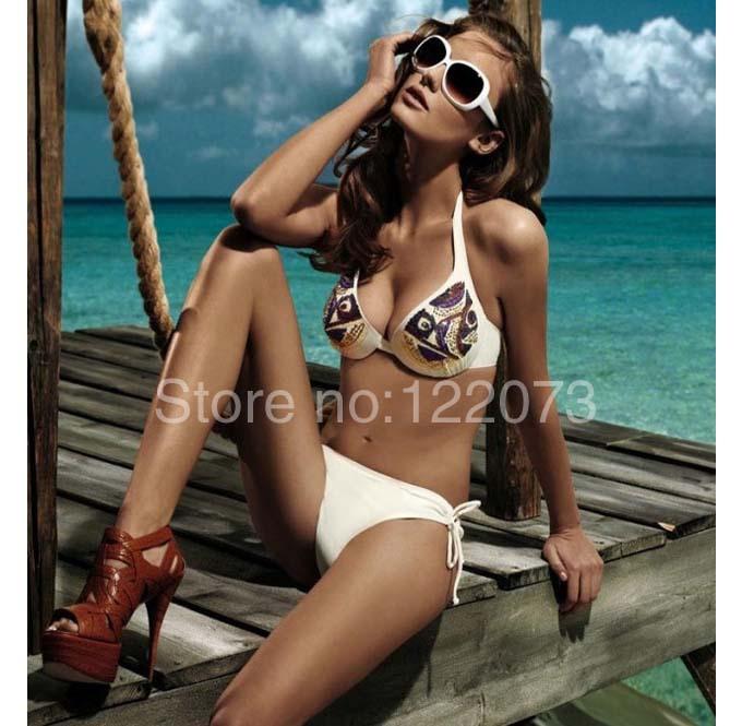 Aliexpress.com : Buy 2014 Sequin Jeweled maillot de bain swimsuit VS famous brand women bikini push up swimwear sexy bathers beachwear Freeshipping from Reliable swimwear bikini women suppliers on Over the Summer Sea