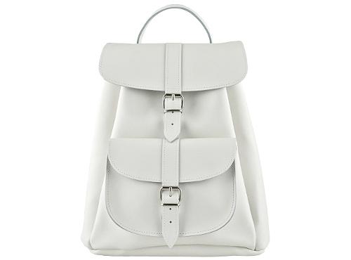 Grafea SALT White Leather Backpack