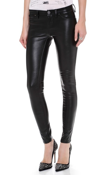 Blank Denim Vegan Leather Skinny Pants   SHOPBOP