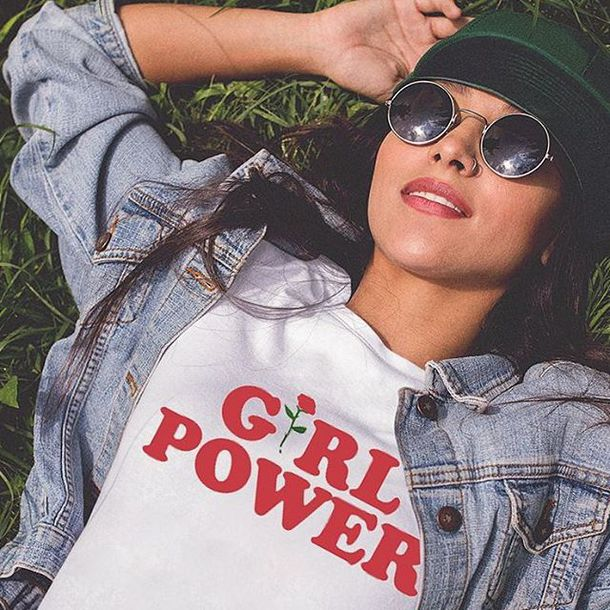 t-shirt, tees2peace, girl power tshirt, girl, girly, girly ...