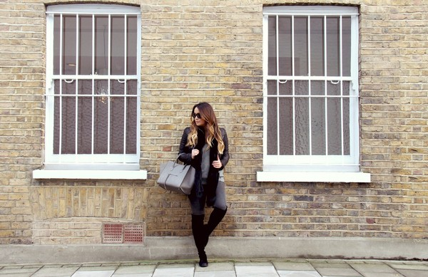 louhayhay jacket scarf jeans shoes jewels sunglasses bag