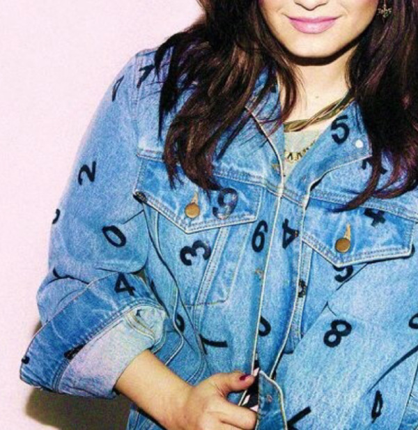 jacket demi lovato denim jacket number necklace