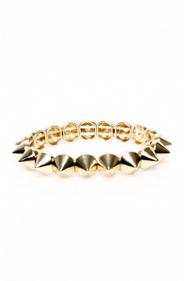 LoveMelrose.com From Harry & Molly | Small Spike bracelet -yellow gold- from Love Melrose - BRACELETS - JEWELRY