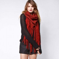 Oxblood Fringe Scarf | Crossroads Trading Co.