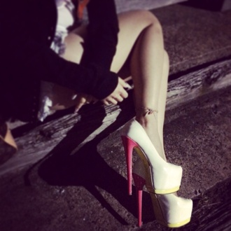 shoes zu high heels pumps white high heels white white pumps heels platform shoes platform high heels white platforms cute platforms summer platforms pink high heels cute high heels footwear womens shoes evening outfits pink friday