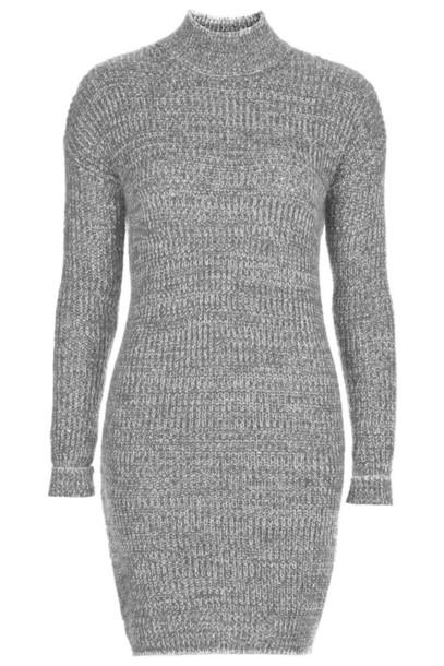 dress sweater dress topshop grey sweater