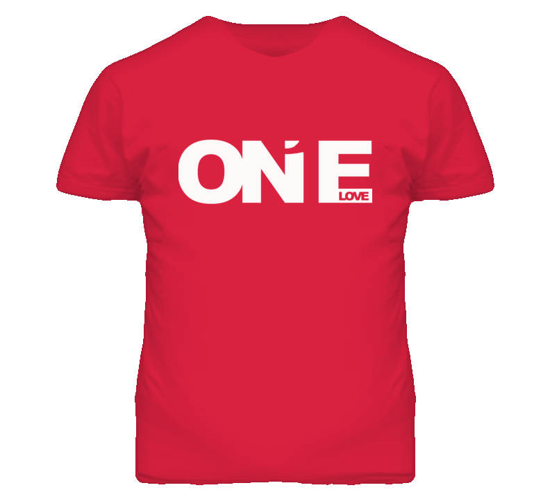 One Love Popular Graphic T Shirt