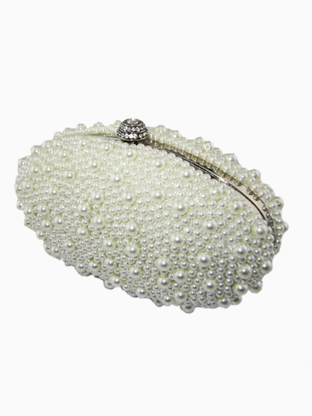 Pearl Goose Eggs Type Clutch Bag | Choies