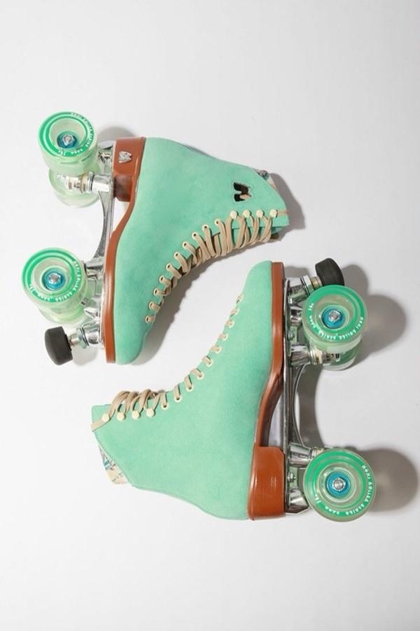 shoes roller skates roller skates roller skates skates light blue mint wheels rollers roller skates roller skates mint blue Rollerblade mint wheel moxi lolly retro roller skates