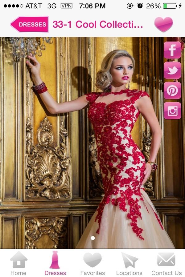 dress red dress roses long prom dress prom dress