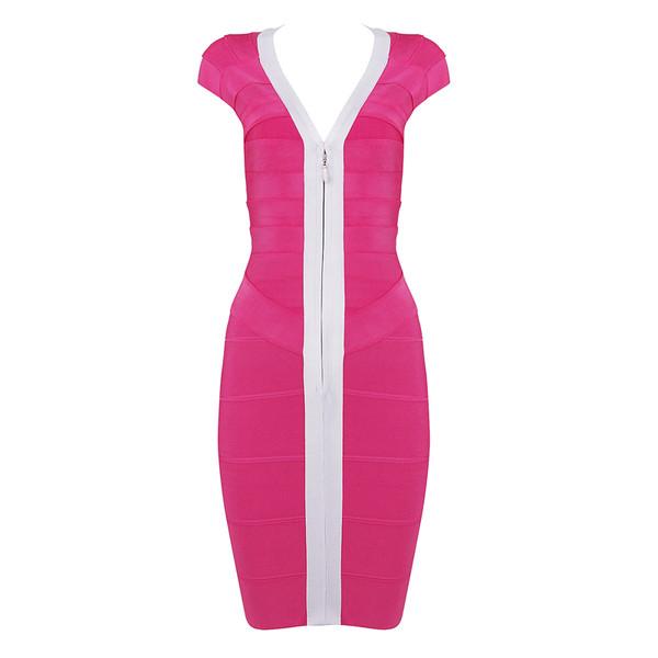 red carpet bandage dress evening dress v neck
