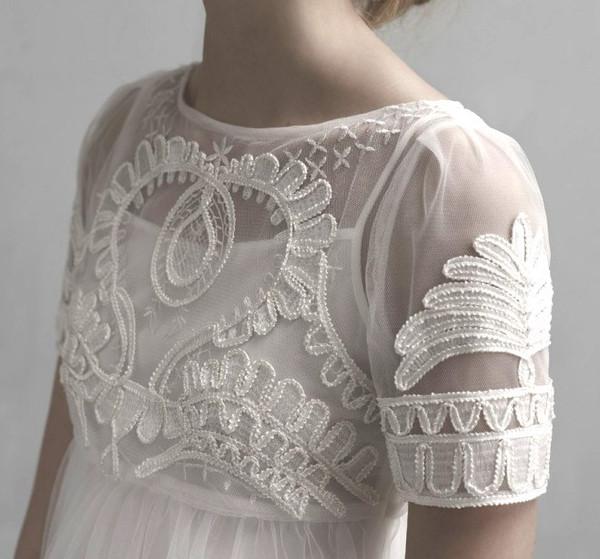 Celestial Embroidery Chiffon Dress – Flydoll