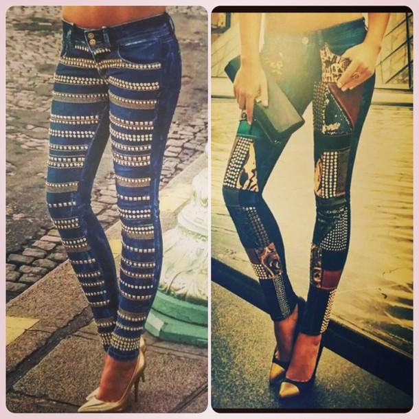 jeans rhinestones musthave