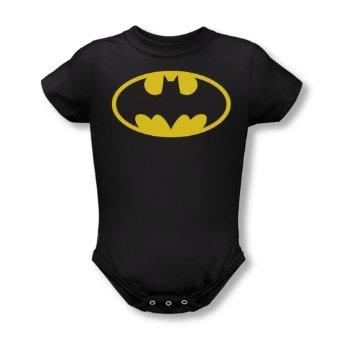 Amazon.com: Batman Classic Logo Black Infant Baby Onesie Romper: Home & Kitchen