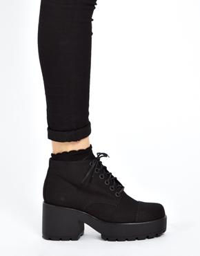Vagabond   Vagabond Dioon Black Ankle Boots at ASOS