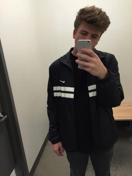 jacket nike black grunge white