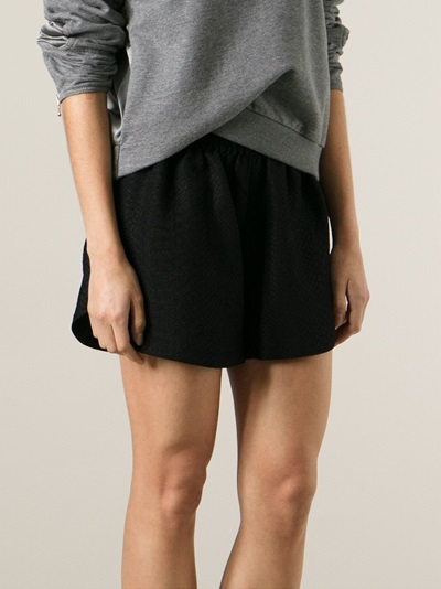 Stella Mccartney Snakeskin Effect Shorts - Luisa World - Farfetch.com