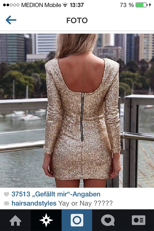 dress gold dress short