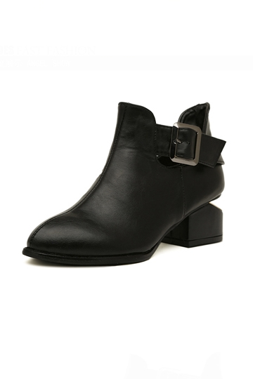 Simple Design High Street Boot with Buckle [FABI1329]- US$49.99 - PersunMall.com