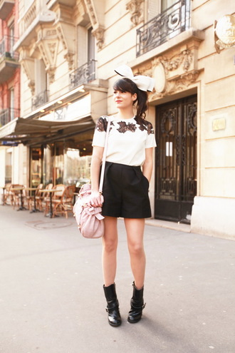 the cherry blossom girl shoes shorts blouse bag