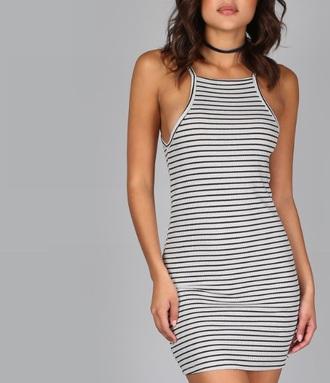 dress girly bodycon dress stripes striped dress mini dress