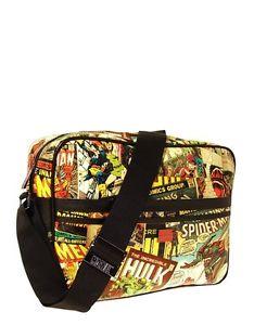 MARVEL COMIC STRIP STYLE PRINTED SHOULDER BAG - Messenger Official | eBay