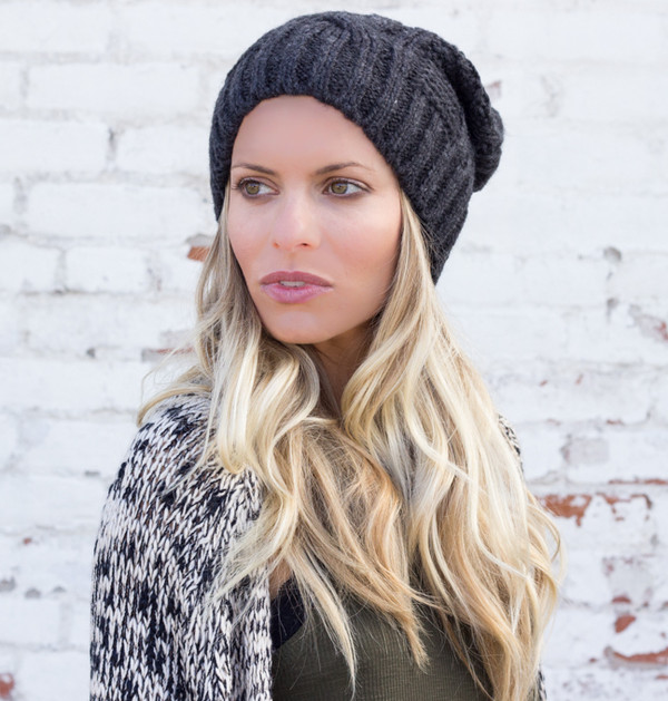 hat beanie winter outfits cable knit slouchy taboggan