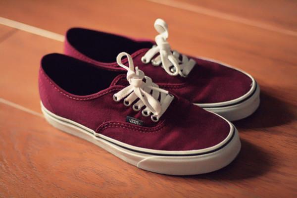 shoes vans burgundy beautiful classic