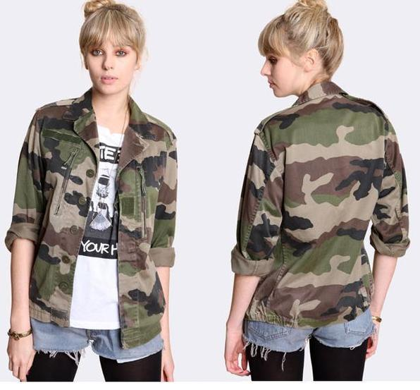 ✪ Vintage Women's French F2 Camo Jacket Coat Surplus Army Military Retro Urban ✪   eBay