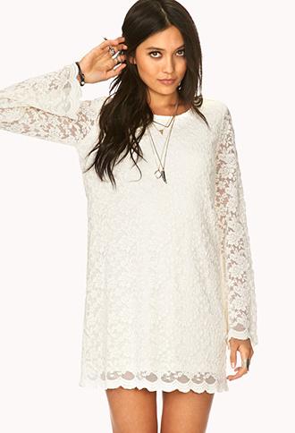 Boho Doll Crochet Shift Dress   FOREVER21 - 2000065723