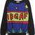 Black Blue Long Sleeve Stars IDGAF Print Sweatshirt - Sheinside.com