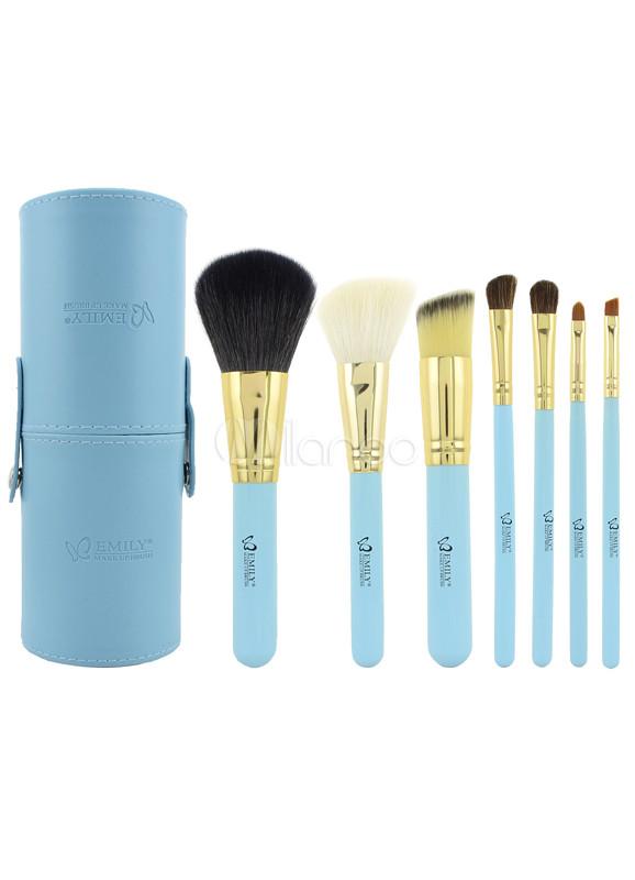 Fresh Blue 7 Pcs Professional Make Up Brush Set - Milanoo.com