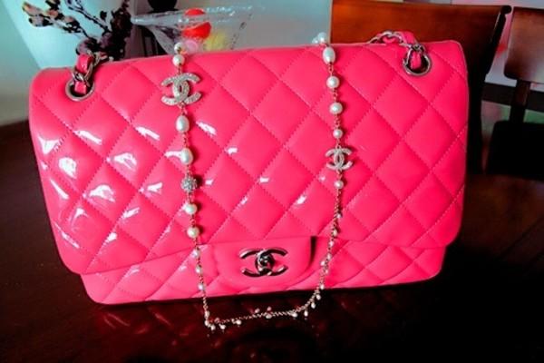 bag chanel pink