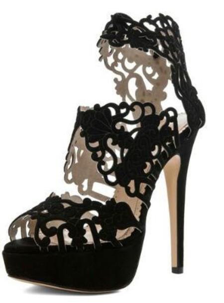 shoes velvet heels pattern