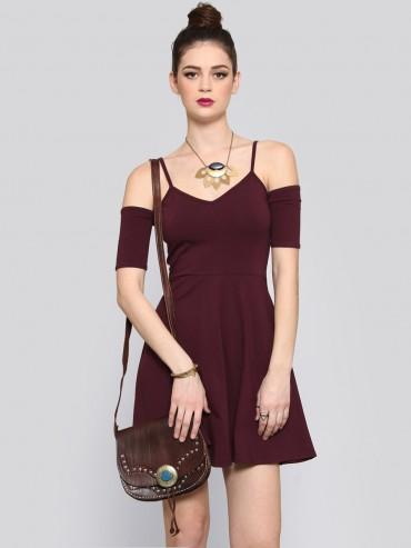 What a Flirt Mini Dress - Burgundy - Dresses - Clothes | GYPSY WARRIOR