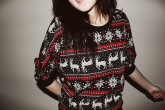 sweater reign deer christmas jumper
