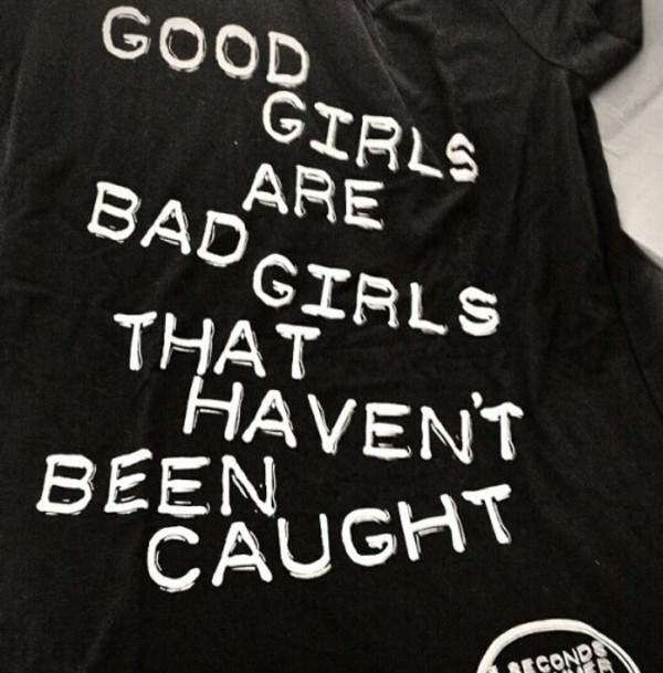 shirt rebel good gurl bad girls club cute black white words quote on it 5 seconds of summer 5 seconds of summer 5 seconds of summer 5sos merch black shirt t-shirt good girl
